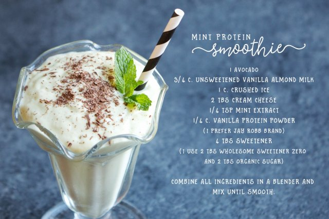 Mint Protein Smoothie Recipe - This Lunch Rox